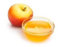 Apple和蜂蜜 免版税库存照片