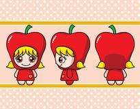 Apple女孩 免版税库存图片
