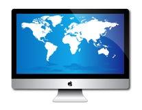 Apple计算机服务台imac顶层 免版税库存图片