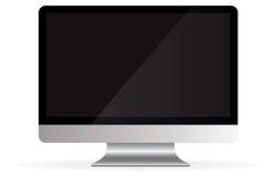 Apple计算机桌面imac查出的向量 免版税库存图片