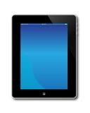 Apple计算机ipad屏幕 免版税图库摄影