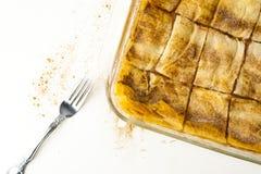 Apple馅饼用桂香 图库摄影