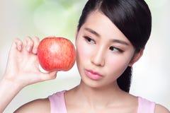 Apple è buono per salute Immagine Stock