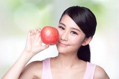 Apple è buono per salute Fotografia Stock Libera da Diritti