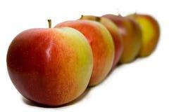 Apple über weißem Hintergrund Stockbild