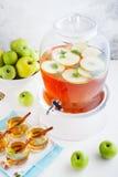Apple, άσπρη διάτρηση κρασιού, τσάι, θερμαμένος μηλίτης Στοκ Εικόνα