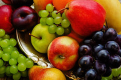 Apple, δαμάσκηνο, σταφύλι, αχλάδι, πορτοκαλής, banan Στοκ Εικόνα