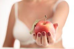 Apple, ανθρώπινο χέρι, εκμετάλλευση Στοκ Εικόνα