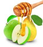 Apple, αχλάδι και μέλι Στοκ Φωτογραφία