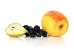 Apple, αχλάδι και σταφύλια Στοκ φωτογραφίες με δικαίωμα ελεύθερης χρήσης