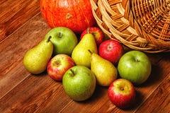 Apple, αχλάδι, κολοκύθα Στοκ φωτογραφία με δικαίωμα ελεύθερης χρήσης