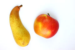 Apple, αχλάδι, φρούτα που βρίσκονται σε ένα φως Στοκ Εικόνες