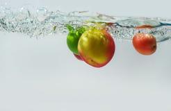 Apple, λεμόνι, ντομάτα Στοκ Εικόνα