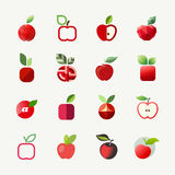 Apple. Διανυσματικά πρότυπα λογότυπων καθορισμένα. Στοιχεία για το σχέδιο Στοκ φωτογραφία με δικαίωμα ελεύθερης χρήσης