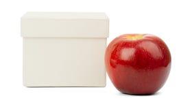 Apple και άσπρο κιβώτιο Στοκ Φωτογραφία