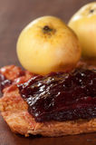 Apple και δέρμα φρούτων δαμάσκηνων Στοκ Εικόνες