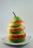 Apple και αχλάδι Στοκ Φωτογραφίες