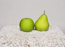 Apple και αχλάδι Στοκ Εικόνα