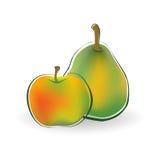 Apple και αχλάδι Στοκ εικόνες με δικαίωμα ελεύθερης χρήσης