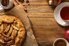 Apple και αλατισμένο galette καραμέλας Στοκ Εικόνες