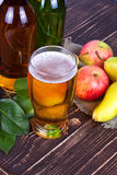 Apple και γυαλί μηλίτη αχλαδιών Στοκ φωτογραφίες με δικαίωμα ελεύθερης χρήσης