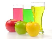 Apple και γυαλί χυμού Στοκ Εικόνα