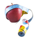 Apple και εκατοστόμετρο Στοκ φωτογραφία με δικαίωμα ελεύθερης χρήσης