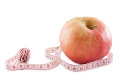 Apple και εκατοστόμετρο Στοκ εικόνες με δικαίωμα ελεύθερης χρήσης