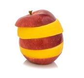 Apple και λεμόνι που απομονώνονται σε ένα άσπρο υπόβαθρο Στοκ Φωτογραφίες