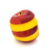 Apple και λεμόνι που απομονώνονται σε ένα άσπρο υπόβαθρο Στοκ Εικόνες