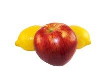 Apple και λεμόνι Στοκ εικόνα με δικαίωμα ελεύθερης χρήσης
