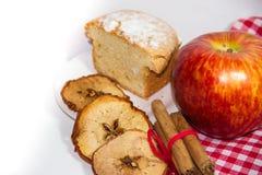Apple και κέικ κανέλας Στοκ εικόνα με δικαίωμα ελεύθερης χρήσης