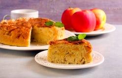 Apple και κέικ κανέλας Στοκ φωτογραφία με δικαίωμα ελεύθερης χρήσης