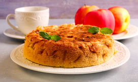 Apple και κέικ κανέλας Στοκ Εικόνα