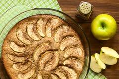 Apple και κέικ κανέλας Στοκ Φωτογραφία