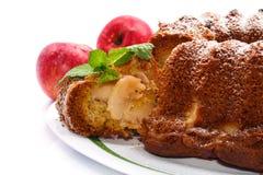 Apple και κέικ μελιού Στοκ Εικόνα