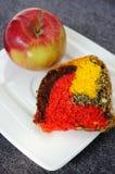 Apple και κέικ Στοκ Εικόνες
