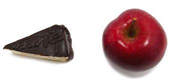 Apple και κέικ Στοκ Εικόνα