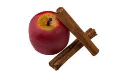 Apple και κανέλα Στοκ φωτογραφία με δικαίωμα ελεύθερης χρήσης