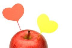 Apple και καρδιά Στοκ φωτογραφία με δικαίωμα ελεύθερης χρήσης