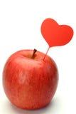 Apple και καρδιά Στοκ Εικόνες