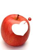 Apple και καρδιά Στοκ εικόνα με δικαίωμα ελεύθερης χρήσης