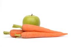 Apple και καρότα Στοκ Εικόνες