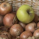 Apple και κρεμμύδι Στοκ Εικόνα
