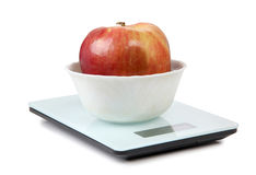 Apple και κλίμακες Στοκ Εικόνες