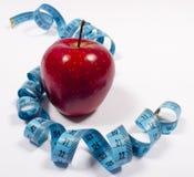 Apple και μέτρο ταινιών, έννοια διατροφής Στοκ Εικόνες