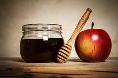 Apple και μέλι Στοκ Εικόνες