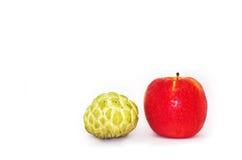 Apple και μήλο ζάχαρης Στοκ Φωτογραφία
