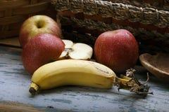 Apple και μπανάνα Στοκ Εικόνες