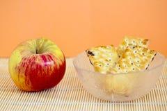 Apple και μπισκότα μαρμελάδας Στοκ Εικόνες
